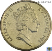1 Dollar - Elizabeth II (3rd portrait - Mob of Roos) -  obverse