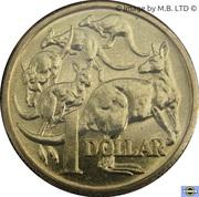 1 Dollar - Elizabeth II (3rd portrait - Mob of Roos) -  reverse