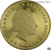 1 Dollar - Elizabeth II (4th Portrait - Indigenous image of Kangaroo) -  obverse