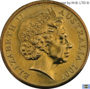 1 Dollar - Elizabeth II (4th Portrait - 1882-2007 Ashes) -  obverse