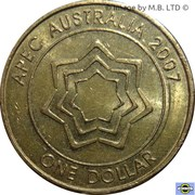 1 Dollar - Elizabeth II (4th Portrait - APEC Australia) -  reverse