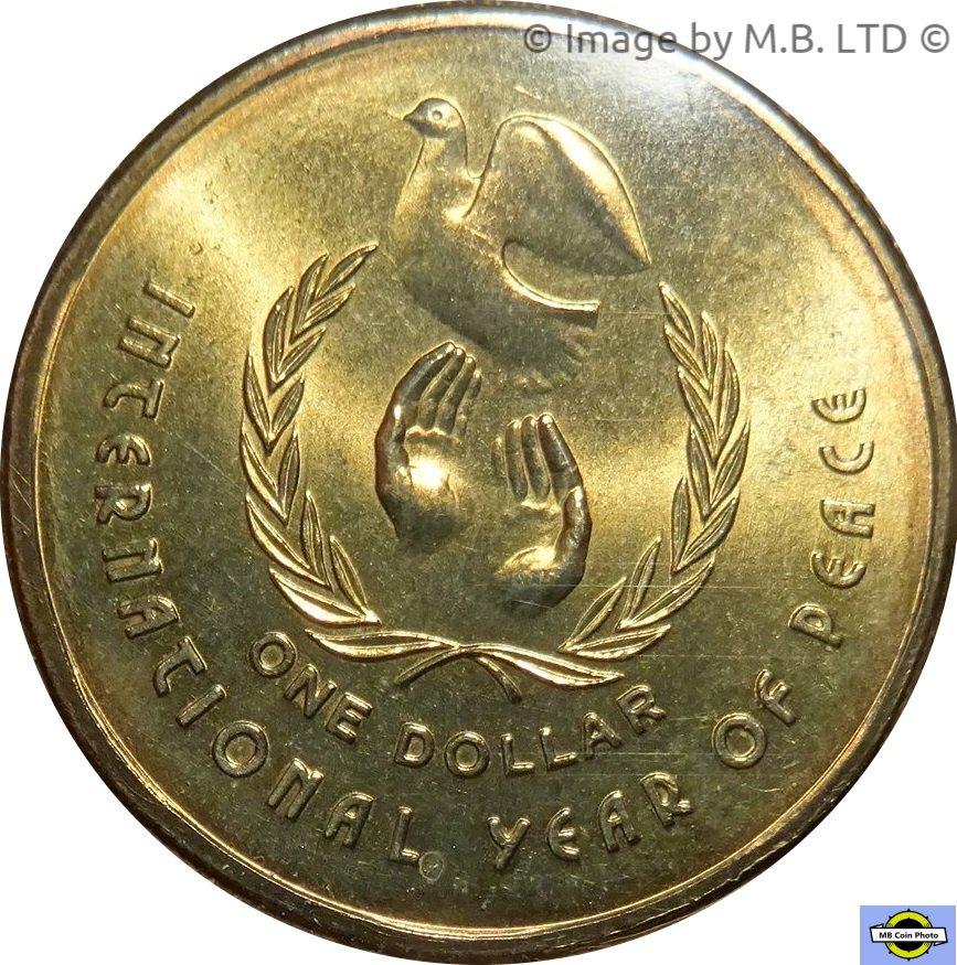 1 Dollar - Elizabeth II (3rd Portrait - International Year