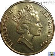 1 Dollar - Elizabeth II (3rd Portrait - First Fleet Bicentenary) -  obverse