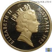1 Dollar - Elizabeth II (3rd Portrait - Barcelona Olympics) -  obverse
