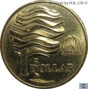 1 Dollar - Elizabeth II (3rd Portrait - Landcare Australia) -  reverse