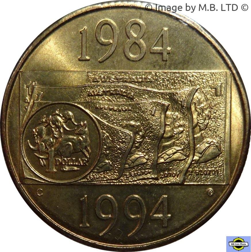 1994 DOLLAR DECADE COIN FAIR Silver Proof Coin