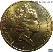 """1 Dollar - Elizabeth II (3rd Portrait - """"Father of Federation"""") -  obverse"""