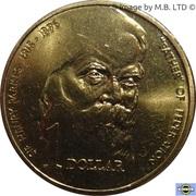 """1 Dollar - Elizabeth II (3rd Portrait - """"Father of Federation"""") -  reverse"""