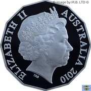 50 Cents - Elizabeth II (4th Portrait - Australia Day - Silver Proof) -  obverse