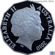 50 Cents - Elizabeth II (Australia Day) -  obverse