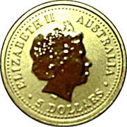 5 Dollars - Elizabeth II (Year of the Dragon) -  obverse