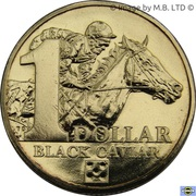 1 Dollar - Elizabeth II (Black Caviar) -  reverse