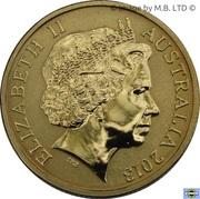 1 Dollar - Elizabeth II (4th Portrait - Black Caviar - Coloured) -  obverse