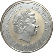 30 Dollars - Elizabeth II (Australian Kookaburra - 2000 U.S.State Quarters) -  obverse