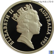 1 Dollar - Elizabeth II (3rd Portrait - Landcare Australia - Silver Proof) -  obverse