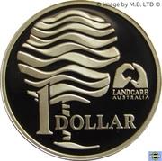 1 Dollar - Elizabeth II (3rd Portrait - Landcare Australia - Silver Proof) -  reverse