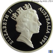 1 Dollar - Elizabeth II (3rd Portrait - Dollar Decade - Silver Proof) – obverse