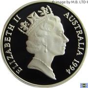 1 Dollar - Elizabeth II (3rd Portrait - Dollar Decade - Silver Proof) -  obverse