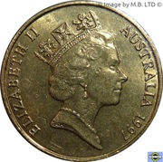 1 Dollar - Elizabeth II (3rd Portrait - Sir Charles Kingsford Smith) – obverse