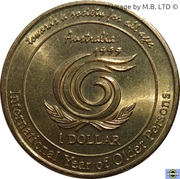 1 Dollar - Elizabeth II (Year of Older Persons) -  reverse