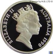 1 Dollar - Elizabeth II (3rd Portrait - Mob of Roos - Masterpieces in Silver) -  obverse