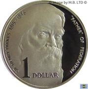 """1 Dollar - Elizabeth II (""""Father of Federation"""") Silver Proof -  reverse"""
