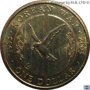 1 Dollar - Elizabeth II (4th Portrait - Korean War) -  reverse
