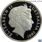 1 Dollar - Elizabeth II (4th Portrait - Army Anniversary Silver Proof) -  obverse
