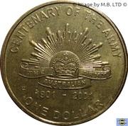 1 Dollar - Elizabeth II (4th Portrait - Army Anniversary) -  reverse