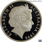 20 Cents - Elizabeth II (4th Portrait - Masterpiece in Silver - 1995 United Nations) – obverse