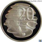 20 Cents - Elizabeth II (4th Portrait - Silver Proof) -  reverse