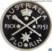 20 Cents - Elizabeth II (Masterpiece in Silver - 1951 Federation Florin) -  reverse