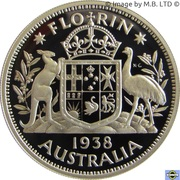 20 Cents - Elizabeth II (Masterpiece in Silver - 1938 Florin) -  reverse
