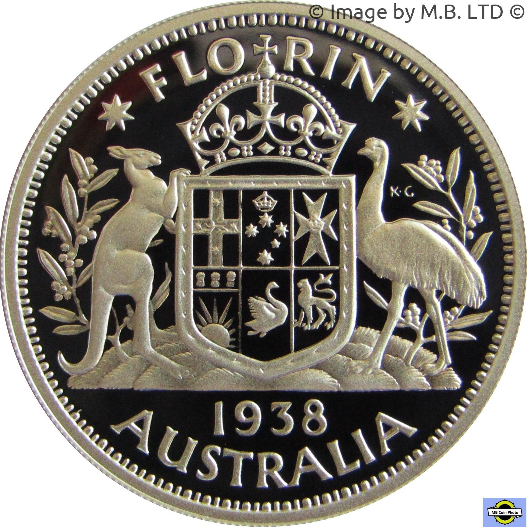 Australia 1 Florin 1938 Unc Münzen