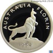 20 Cents - Elizabeth II (Masterpiece in Silver - 1954 Royal Visit Florin) -  reverse