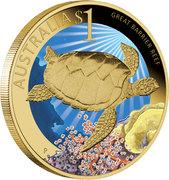 1 Dollar - Elizabeth II (Sea Turtle) -  reverse