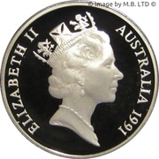 20 Cents - Elizabeth II (3rd portrait, Masterpieces in Silver) -  obverse