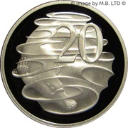 20 Cents - Elizabeth II (3rd portrait, Masterpieces in Silver) -  reverse