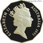 50 Cents - Elizabeth II (3rd Portrait, Masterpieces in Silver) – obverse