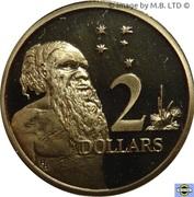 2 Dollars - Elizabeth II (3rd portrait) -  reverse