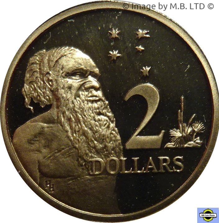 Australia PROOF 1993  $2 Aborigine /& Southern Cross