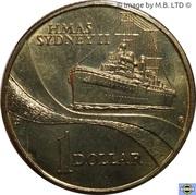 1 Dollar - Elizabeth II (4th Portrait - HMAS Sydney II) -  reverse