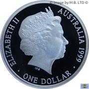 1 Dollar - Elizabeth II (4th Portrait - Masterpieces in Silver - 1940 Shilling) -  obverse