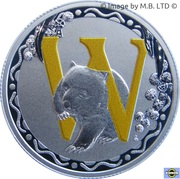 1 Dollar - Elizabeth II (4th Portrait - Alphabet Collection - Letter W - Silver Proof) -  reverse
