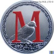 1 Dollar - Elizabeth II (4th Portrait - Alphabet Collection - Letter M - Silver Proof) -  reverse