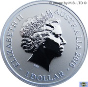1 Dollar - Elizabeth II (4th Portrait - Alphabet Collection - Letter F - Silver Proof) -  obverse