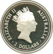 2 Dollars - Elizabeth II (Australian Kookaburra - Spade Guinea) -  obverse