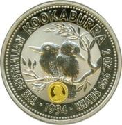 2 Dollars - Elizabeth II (3rd Portrait - Australian Kookaburra - Sovereign of Queen Victoria) -  reverse