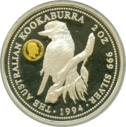 2 Dollars - Elizabeth II (3rd Portrait - Australian Kookaburra - Sovereign of King Edward VII) -  reverse