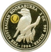 2 Dollars - Elizabeth II (Australian Kookaburra - Sovereign of King George V) -  reverse